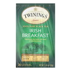 Twining's Tea Breakfast Tea - Irish - Case of 6 - 20 Bags