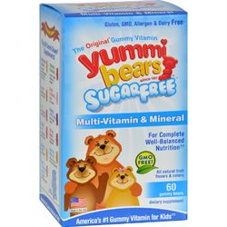 Hero Nutritionals Yummi Bears Multi-Vitamin and Mineral Sugar Free - 60 Yummi Bears
