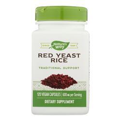 Nature's Way - Red Yeast Rice - 120 Vegetarian Capsules