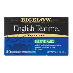 Bigelow Tea English Teatime Decaffeinated Black Tea - Case of 6 - 20 Bags
