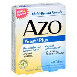 Azo Yeast Plus - 60 Tablets