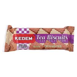 Kedem Tea Biscuits - Vanilla - Case of 24 - 4.2 oz.