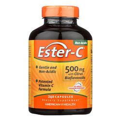 American Health - Ester-C with Citrus Bioflavonoids - 500 mg - 240 Capsules