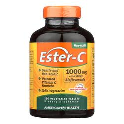 American Health - Ester-C with Citrus Bioflavonoids - 1000 mg - 180 Vegetarian Tablets