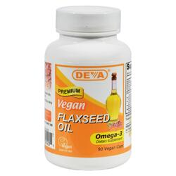 Deva Vegan Vitamins - Flaxseed Oil - 90 Vegan Capsules