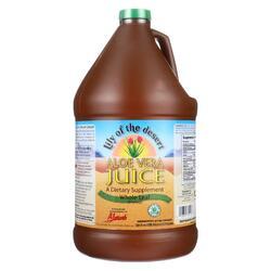 Lily of the Desert - Organic Aloe Vera Juice - Whole Leaf - Case of 4 - 1 Gallon