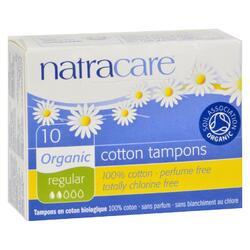 Natracare 100% organic cotton Tampons - Regular - 10 Pack