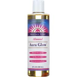 Heritage Store Body Oil - Aura Glow - Almond - 8 oz - 1 each
