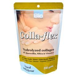 Bio Nutrition - Colla-Flex Hydrolyzed Collagen Natural Vanilla - 240 g