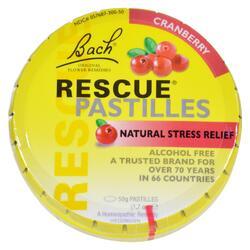 Bach Rescue Remedy Pastilles - Cranberry - 50 grm - Case of 12