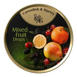 Cavendish and Harvey Fruit Tin - Mixed - Case of 12 - 5.3 oz