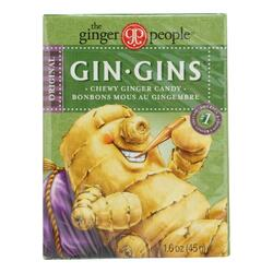Ginger People Gingins Chewy Original Travel Packs - Case of 24 - 1.6 oz
