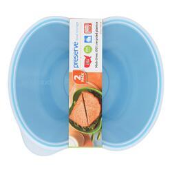 Preserve Small Square Food Storage Container - Aqua - 2 Pack