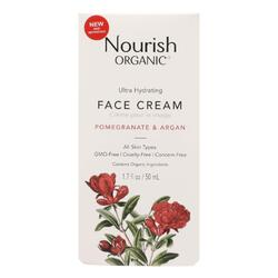 Nourish Facial Cream - Organic - Ultra-Hydrating - Argan and Pomegranate - 1.7 oz - 1 each