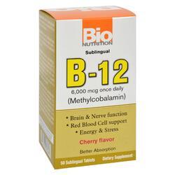 Bio Nutrition - B12 Sublingual - 6000 mcg - 50 Tablets