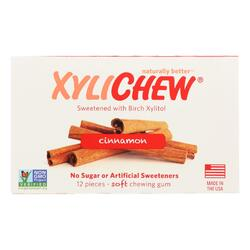Xylichew Gum - Cinnamon - Counter Display - 12 Pieces - 1 Case