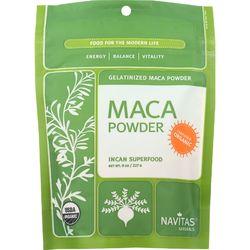 Category: Dropship Botanicals And Herbs, SKU #1581511, Title: Navitas Naturals Maca Powder - Organic - Gelatinized - 8 oz - case of 12