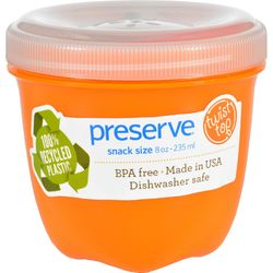 Preserve Food Storage Container - Round - Mini - Orange - 8 oz - 1 Count - Case of 12
