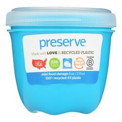 Preserve Food Storage Container - Round - Mini - Aqua - 8 oz - 1 Count