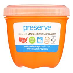Preserve Food Storage Container - Round - Mini - Orange - 8 oz - 1 Count