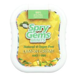 Spry Xylitol Gems - Lemon - Case of 6 - 40 Count