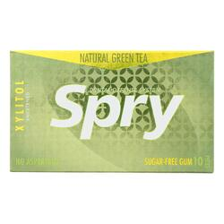 Spry Xylitol Gum - Green Tea - Case of 20 - 10 Count