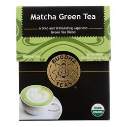Buddha Teas -Tea - Matcha Green - Case of 6 - 18 Bag