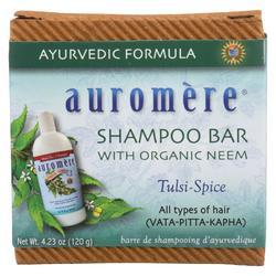 Auromere Shampoo - Tulsi-Spice Eco-Friendly, Non-Gmo, Vegan/Cruelty-Free - Case of 1 - 4.23 oz.