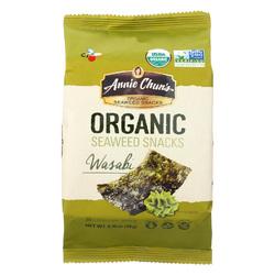 Annie Chun's Organic Seaweed Snacks Wasabi - Case of 12 - 0.35 oz.