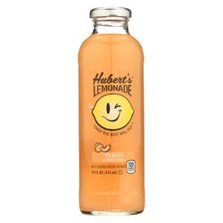 Hubert's Lemonade - Peach - Case of 12 - 16 fl oz