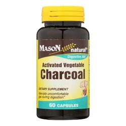 Mason Natural Activated Vegetable Charcoal Dietary Supplement  - 1 Each - 60 CAP