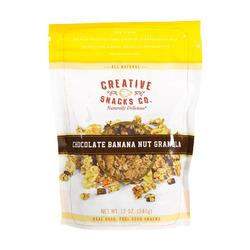 Creative Snacks Granola - Chocolate - Banana - Case of 6 - 12 oz