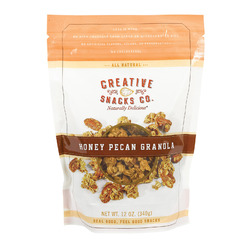 Creative Snacks Granola - Honey Pecan - Case of 6 - 12 oz
