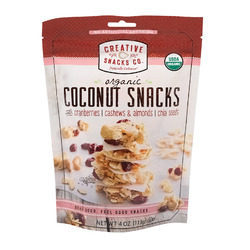 Creative Snacks Bag - Coconut - Cranberry Nut - Case of 12 - 4 oz