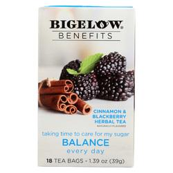 Bigelow Tea Tea - Cinnamon Blackberry - Balance - Case of 6 - 18 BAG