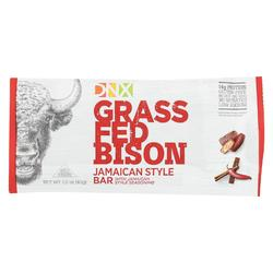 DNX - Grass Fed Bison Bar - Jamaican Style - Case of 12 - 1.5 oz.
