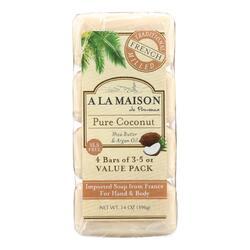 A La Maison - Bar Soap - Pure Coconut - 4/3.5 Oz