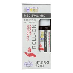 Aura Cacia - Roll On Essential Oil - Medieval - Case of 4 - .31 fl oz