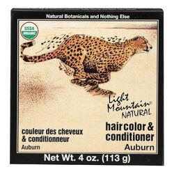 Light Mountain Hair Color/Conditioner - Organic - Auburn - 4 oz
