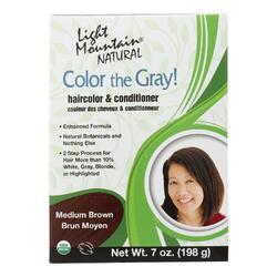 Light Mountain Clr Gry - Conditioner - Organic - Medbrwn - 7 oz