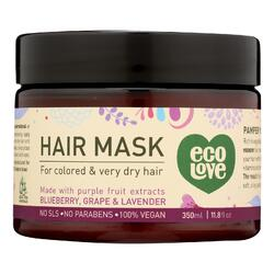 Ecolove Hair Mask - Purple Fruit Hair Mask For Colored and Very Dry Hair  - Case of 1 - 11.8 oz.