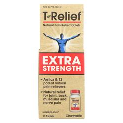 T-Relief - Natural Pain Relief Tablets - Extra Strength - 90 Count