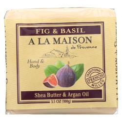A La Maison - Bar Soap - Fig and Basil - Case of 6 - 3.5 Oz