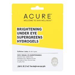 Acure - Brightening Under Eye Supergreens Hyrdrogels - Case of 12 - 0.236 fl oz.