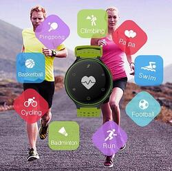 Category: Dropship Watches, SKU #43030919696, Title: Smart Fit Sporty Waterproof Watch W/ Active Heart Rate and Blood Pressure Monitor - Color: Green/Black