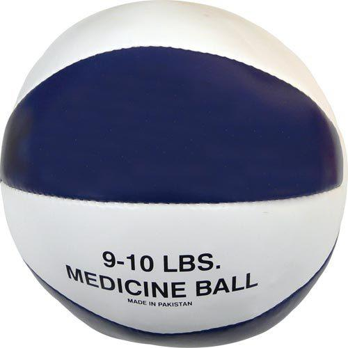 Syn. Leather Medicine Ball - 9-10 lbs. (blue)