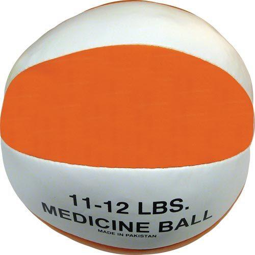 Syn. Leather Medicine Ball - 11-12 lbs. (orange)