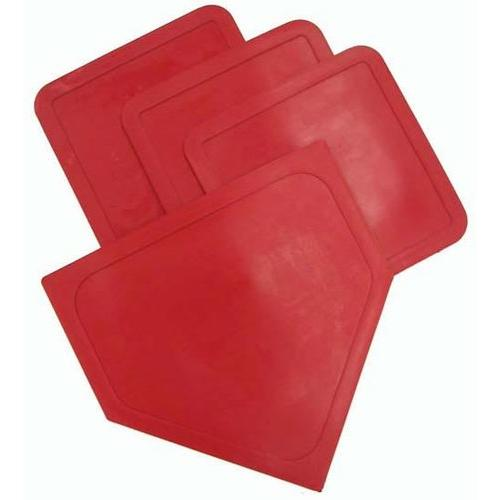 Poly Baseball Bases - Red