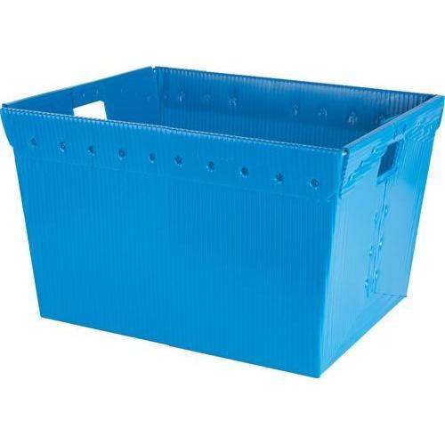 Small Plastic Nesting Storage Tote - Blue