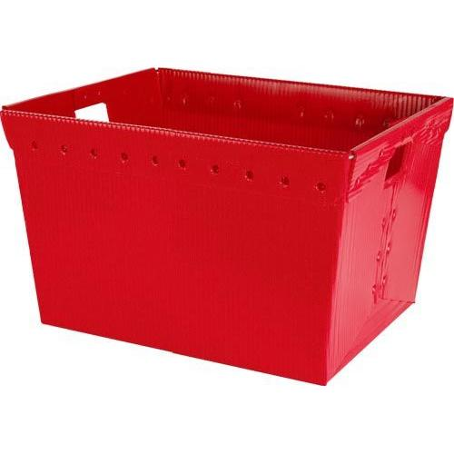 Small Plastic Nesting Storage Tote - Red